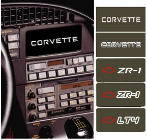 C4 Corvette 1984-1996 Information Center Coverplates