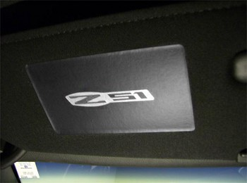 C6 Corvette 2005-2013 Base/Grand Sport/ZR1/Z06 Assorted Logo Sun Visor Label Covers