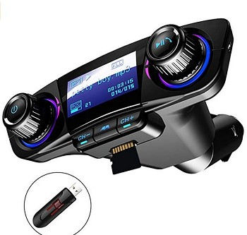 Bluetooth FM Transmitter Radio Audio Adapter