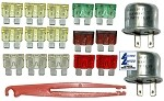 C3 Corvette 1979 Fuse & Flasher Kit- 18 Piece