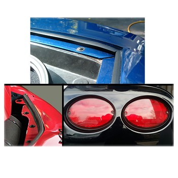 C5 Corvette 1997-2004 Tail Light Seal/Hood Seal & Hatch Seal Combo