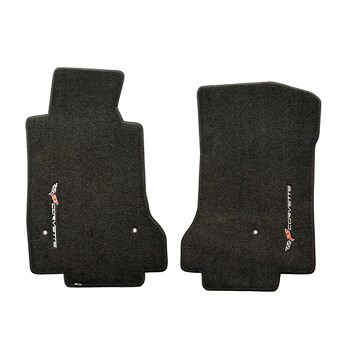 C6 Corvette 2005-2013 Lloyd Ultimat Vertical Logo Front Floor Mats