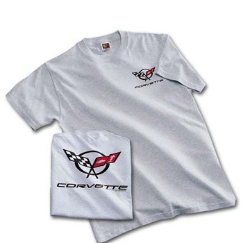 C5 Corvette 1997-2004 Super Bold T-Shirt - Ash Gray