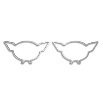 C5 Corvette 1997-2004 Emblem Trim Rings - Polished 2-Piece Set