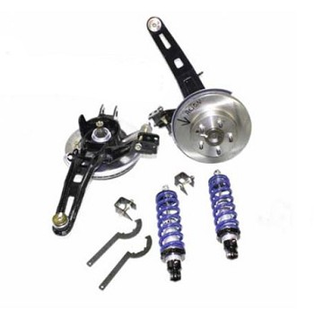 C2 C3 Corvette 1963-1982 Small / Big Block Rear Coilover Kit w/ Bearing Assemblies - Single / Double Adjustable