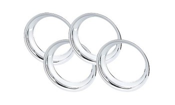 C3 Corvette 1968-1982 Chrome Plated Stainless Steel Wheel Trim Rings - Size Options