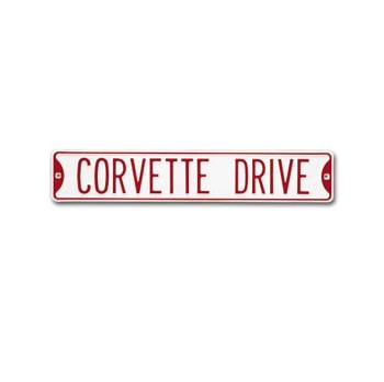 C5 C6 Corvette Z06 1997-2013 Street Signs - White Background