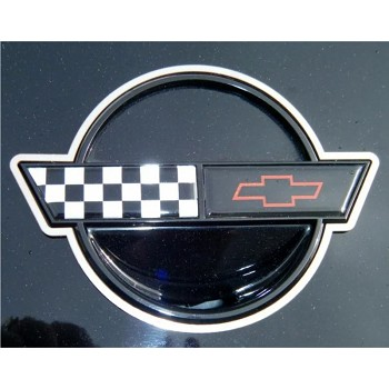 C4 Corvette 1991-1996 Emblem Trim Rings Polished 2Pc