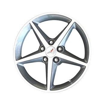 C6 Corvette 2005-2013 GM OEM 5 Star Silver Wheels