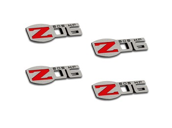 C6 Corvette 2005-2013 Z06 505HP Badges - 4Pc Polished