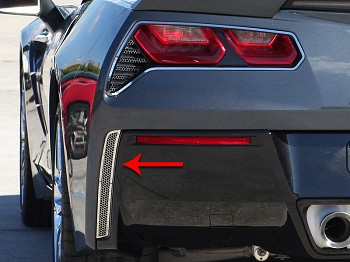 C7 Corvette Stingray 2014+ Stainless Steel Rear Valance Vent Grilles, Matrix Series