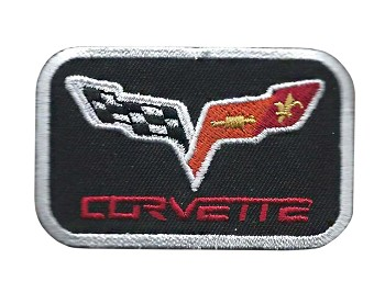 C6 Corvette 2005-2013 Iron-on Embroidered Logo Patch