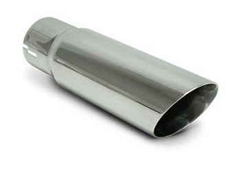 SLP 3 Inch Double-Wall Polished Exhaust Tip - 2.5 Inch Inlet