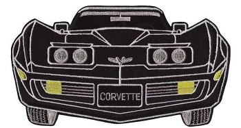 Corvette Iron-on Embroidered 9 inch Patch - Color Option