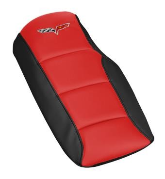 C6 Corvette 2005-2013 Two-Toned Leather Console Cushions - w/ Logo