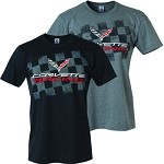 C7 Corvette 2014+ Corvette Racing T-Shirt - Black & Heather Grey