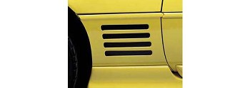 C4 Corvette 1991-1994 Side Vent Louver Decals - 8 Pieces