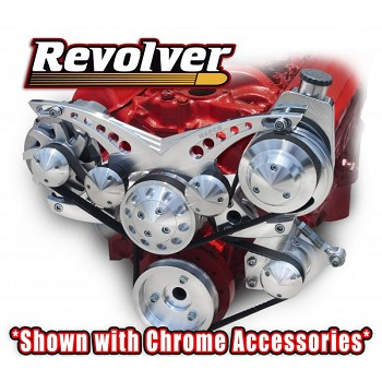C3 Corvette 1968-1982 Revolver Billet Alternator & Power Steering Serpentine System - Big Block - All Inclusive Kit