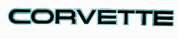 C4 Corvette 1984-1990 Rear Emblem - Custom Paint Colors