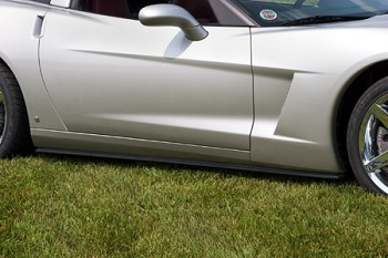 Corvette C6 05-13 Base Body Coupe/Convertible OEM Style Side Skirts
