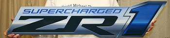 C6 Corvette 2009-2013 ZR1 Supercharged Metal Sign