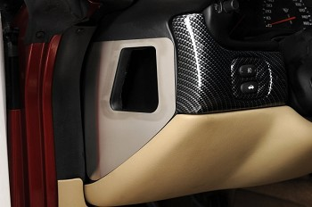 Corvette Door Air Vent Cover Driver Side Brushed 1997-2004 C5 & Z06