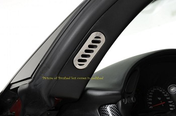 C5 Corvette Z06 1997-2004 Polished Pillar Vent Covers - 2Pc