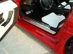Corvette Doorsills Polished Stainless 2Pc 1988-1996 C4
