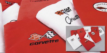 C3 C4 C5 C6 Corvette 1968-2013 Luxury Bath/Beach Towels Embroidered