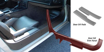 C4 Corvette 1984-1987 Door Sill Trim Panels