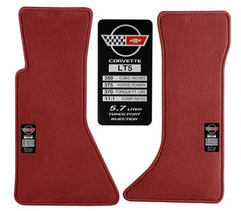 C4 Corvette 1984-1996 MY Choice Data Spec Floor Mats