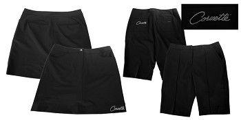 C3 C4 C5 C6 C7 Corvette 1968-2014+ Ladies Cutter & Buck Performance Shorts and Skorts