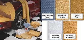 C3 C4 C5 C6 C7 Corvette 1968-2014+ Microfiber Specialty Kits - All The Right Towels In One Kit!