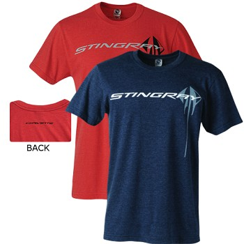 C7 Corvette 2014+ Stingray Chest Logo T-Shirt - Colored