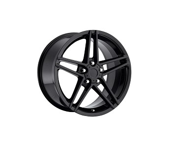 C4 C5 Corvette 1984-2004  Fitments C6  Z06 Style Wheels Gloss Black Set Of Four 17x9.5/18x10.5