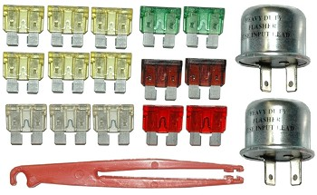 C3 Corvette 1979 Fuse & Flasher Kit - 18pc