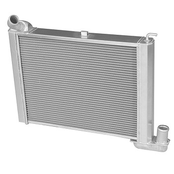 C2 Corvette 1965 DeWitts Big Block Pro-Series Aluminum 2 Row Radiator - 1 Inch Tube - Transmission Option
