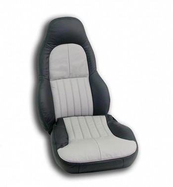 C5 Corvette 1997-2004 Leather Seat Covers - Standard Seat - Two-Tone Colors