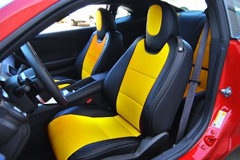 C6 Corvette 2005-2011 Synthetic Leather or Faux Suede Seat Covers - Multiple Color Selections