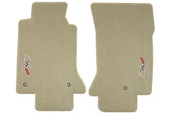 C5 Lloyds Corvette Velourtex Floor Mats - sideways 50th Anniversary Logo