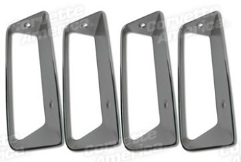 C3 Corvette 1969 Side Louver Insert 4pc Set Replacement