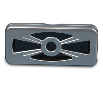 Billet Aluminum Wheel Style Radio Cover - Multiple Finishes Available