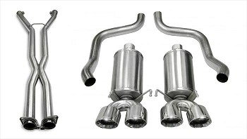 C6 Corvette 2006-2008 Corsa Performance Xtreme Cat-Back Exhaust System w/ Twin 4.5in Polished Tips - Auto A6 Transmission ONLY