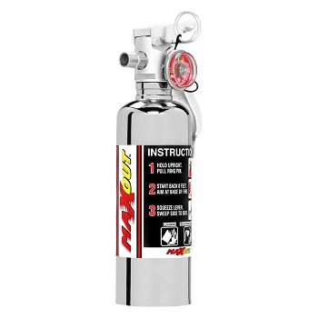 H3R Fire Extinguisher - Red w/ Chrome Top