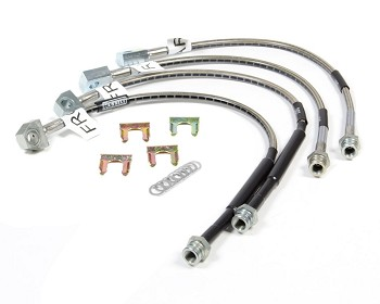 C6 Corvette Base/Z06/Grand Sport/ZR1 2005-2013 Goodridge Stainless Steel Braided Brake Hoses