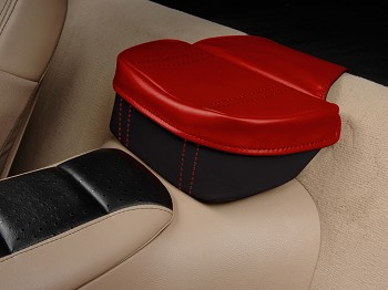 C6 Corvette 2005-2013 Leather Two Tone Console Travel Pouch