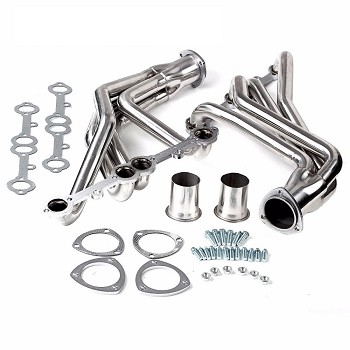 C2 C3 Corvette 1963-1976 & 1980-1982 Stainless Steel Racing Manifold With Long Tube Headers