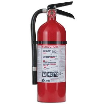 Rechargeable Pro 210 Fire Extinguisher w/ Wall Mount - Dry - 160CI