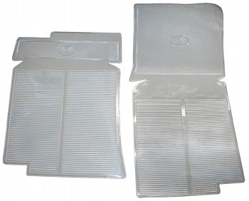C3 Corvette 1968-1982 Clear Rubber Mats - Pair