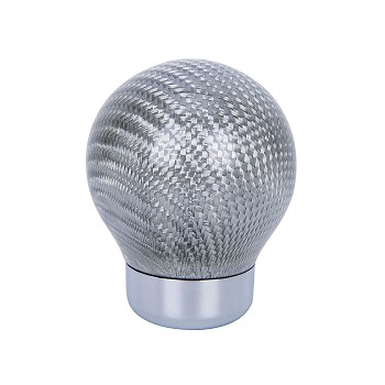 Silver Carbon Fiber Shift Knob w/ 3 Adapters